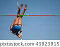 Competition pole vault jumper female 43923915