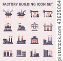 建筑 工厂 图标 43925064