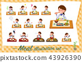 flat type Store staff Blue uniform women_Meal 43926390