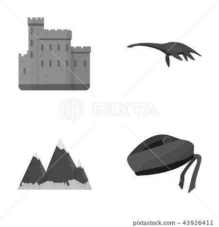 Edinburgh Castle, Loch Ness Monster, Grampian Mountains, national cap balmoral,tam o'shanter 43926411