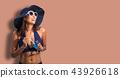 A asia women in the blue bikini 43926618