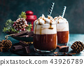 Hot chocolate with whipped cream 43926789