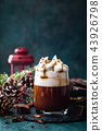 Hot chocolate with whipped cream 43926798