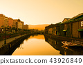 golden hour at Otaru canals 43926849
