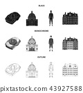 Denmark, history, restaurant, and other web icon in black,monochrome,outline style.Sandwich, food 43927588