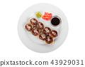 Sushi, rolls on a white isolated background 43929031