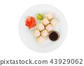Sushi, rolls on a white isolated background 43929062