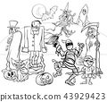 Halloween holiday characters coloring book 43929423