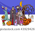 Halloween holiday cartoon funny characters group 43929426
