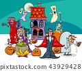 Halloween holiday cartoon characters group 43929428