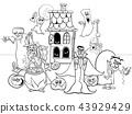 Halloween holiday cartoon characters coloring book 43929429