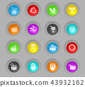 rhythm instruments icon set 43932162