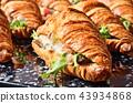 Chicken salad croissant sandwich 43934868