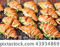 Chicken salad croissant sandwich 43934869