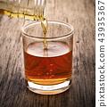 Whiskey drinks on wood 43935367