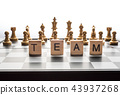 "Chess board and the words ""TEAM"" 43937268"