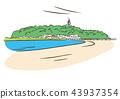 江之島 風景 矢量 43937354