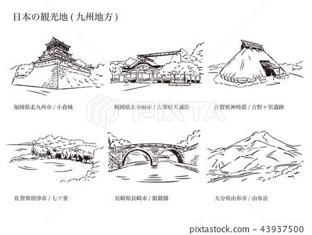 Tourist places in Japan (Kyushu region) 43937500