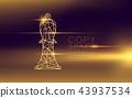 Chess Bishop wireframe polygon futuristic bokeh 43937534