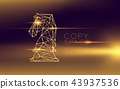 Chess Knight wireframe polygon futuristic bokeh 43937536