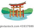 이츠쿠시마 신사, 벡터, 세계 문화 유산 43937686