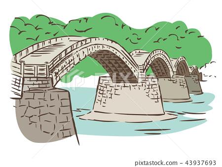 Yamaguchi Prefecture Iwakuni City / Kinobi Bridge 43937693
