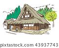 shirakawa-go, shirakawago, world heritage 43937743