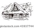shirakawa-go, shirakawago, world heritage 43937744