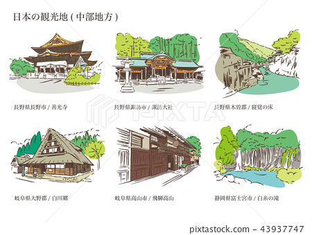 日本的旅遊景點(中部地區) 43937747