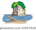 矢量 見附島 軍艦島 43937928