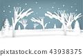 graphic design of winter scene in paper art 43938375
