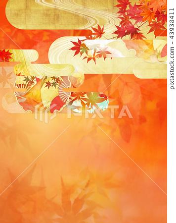 ญี่ปุ่น - พื้นหลัง - ฤดูใบไม้ร่วง - ใบไม้เปลี่ยนสี - ทอง 43938411