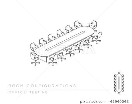Meeting room and school chair with writing pad 43940048