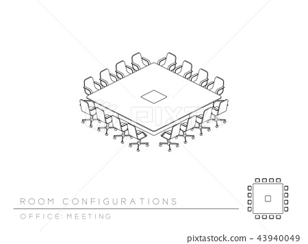Meeting room setup layout configuration Conference 43940049