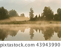 Lake Matheson early morning seen with reflection 43943990