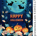 Happy Halloween design. Scary Halloween background 43945517