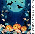 Happy Halloween design. Scary Halloween background 43945526