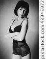 Beautiful fashion woman in bra 43945972