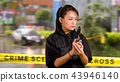 Asian American Police Officer at Crime scene  43946140