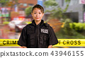 Asian American Police Officer at Crime scene  43946155