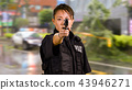 Asian American Police Officer at Crime scene  43946271