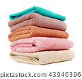 Stack of the home towels on white 43946396