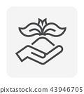 grass gardening icon 43946705