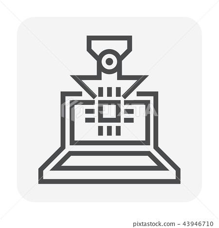 laptop icon black 43946710