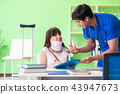 Female patient visiting male doctor in medical concept  43947673