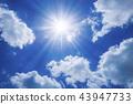 ท้องฟ้าสีครามและดวงอาทิตย์ 43947733