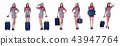 Woman with suitacases preparing for summer vacation 43947764
