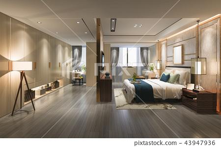 luxury modern bedroom suite tv with wardrobe 43947936