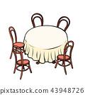 chair table modern 43948726