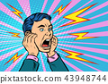 head of a man screaming 43948744